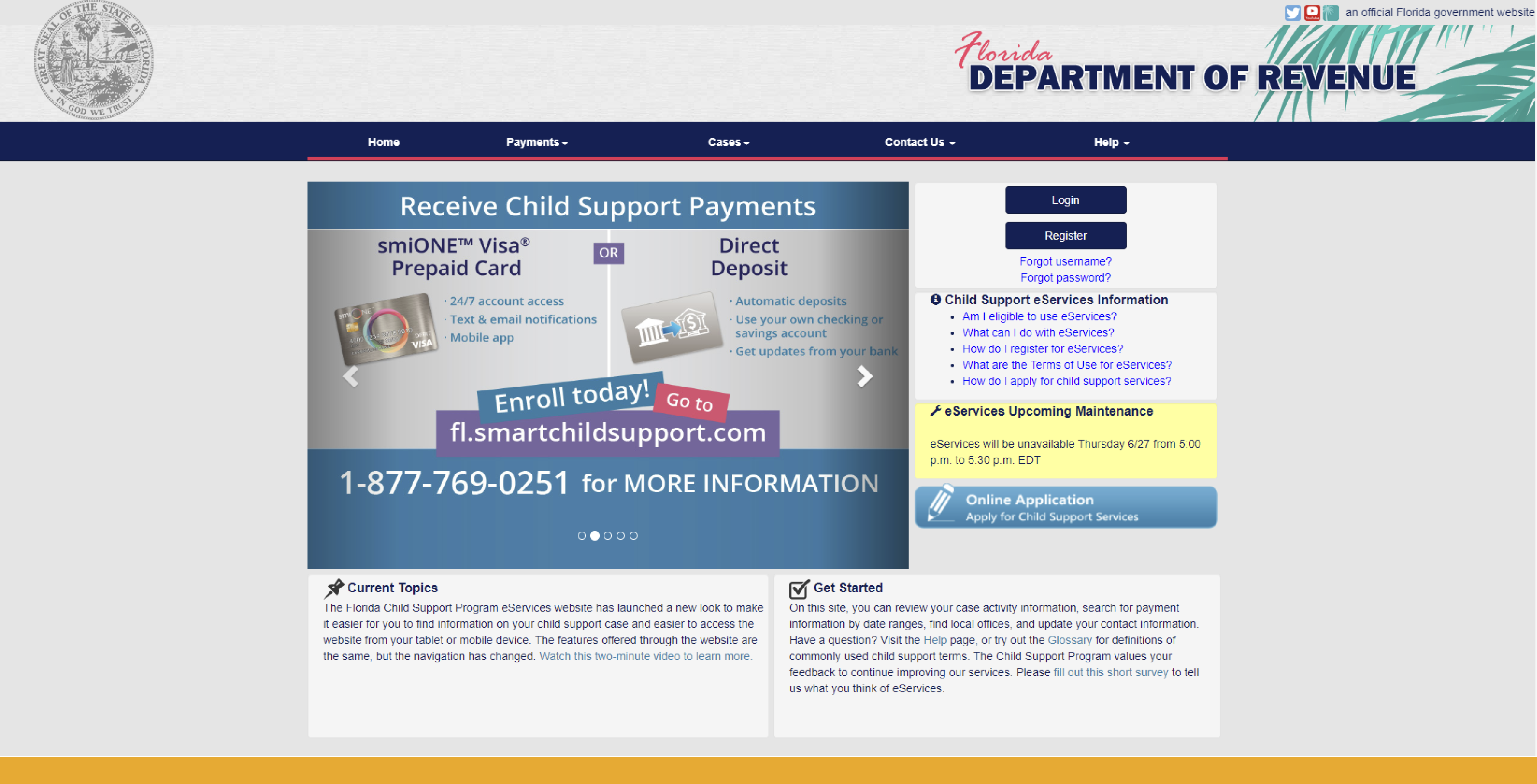 florida-department-of-revenue-webpage