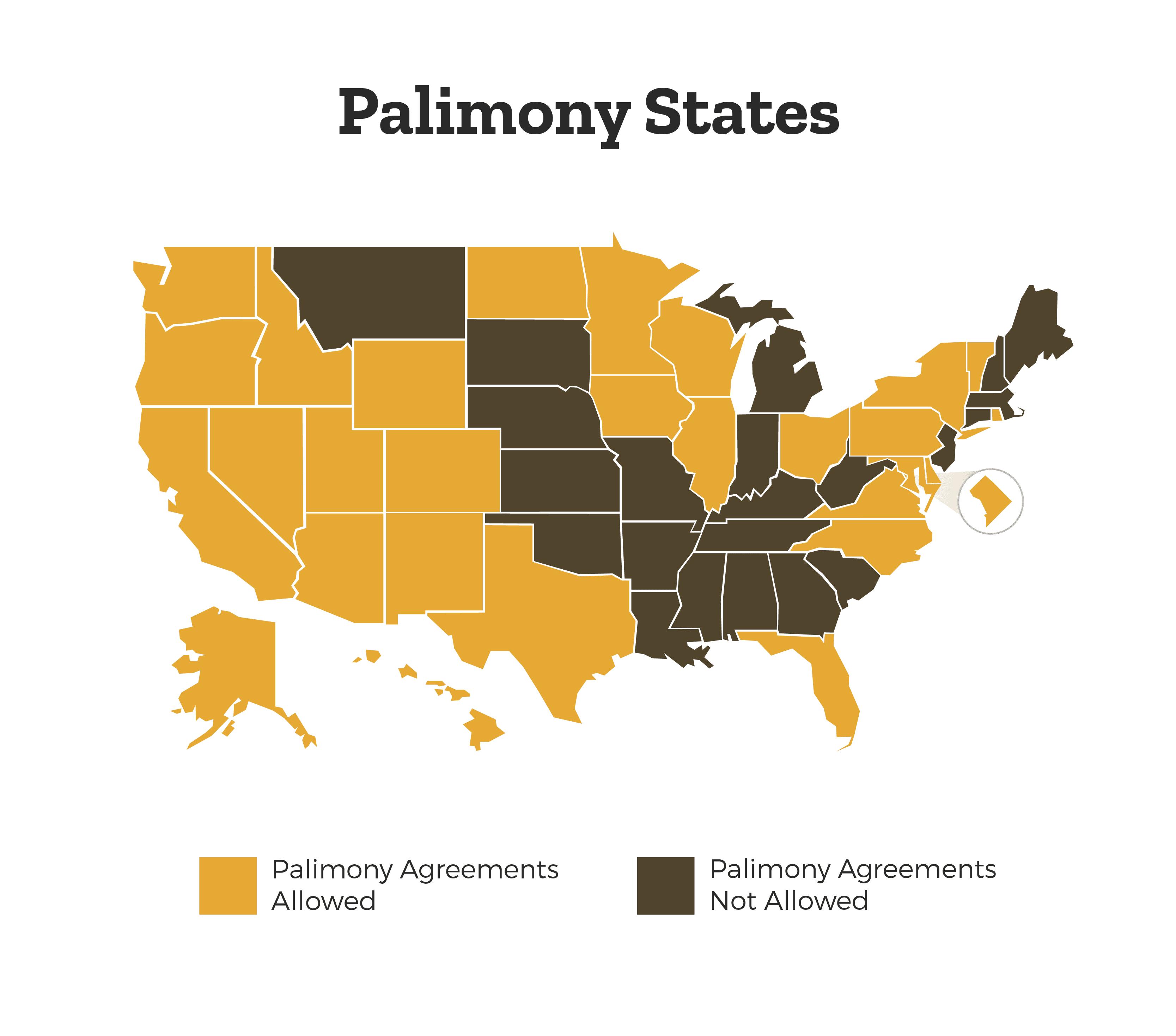 palimony-states