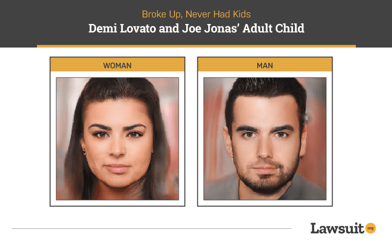 Demi Lovato and Joe Jonas Child