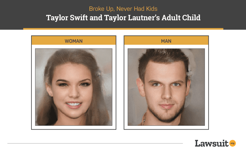 Taylor Swift and Taylor Lautner Child