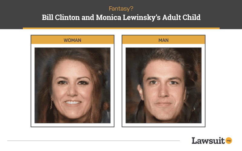 Bill Clinton and Monica Lewinsky Child