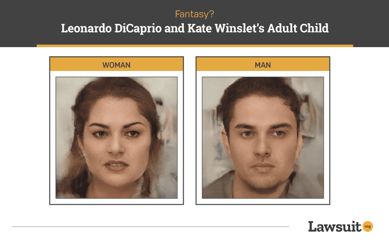 Leonardo DiCaprio and Kate Winslet Child