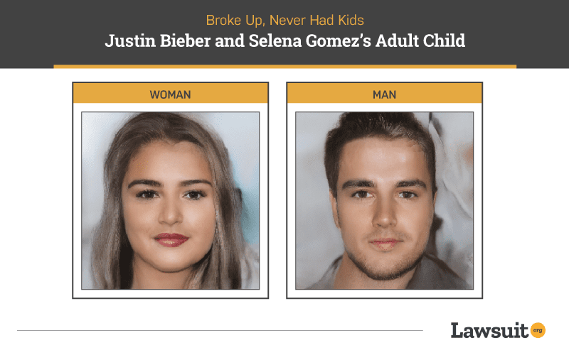 Justin Bieber and Selena Gomez Child