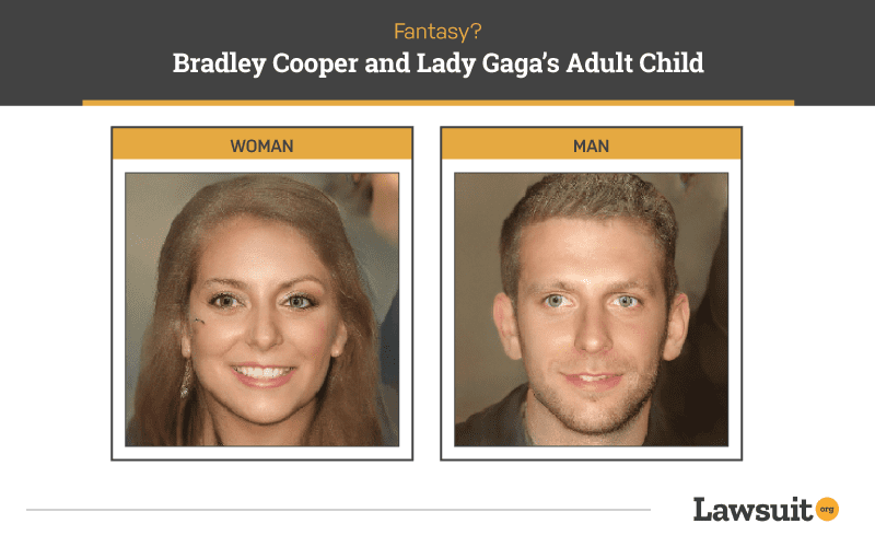 Bradley Cooper and Lady Gaga Child