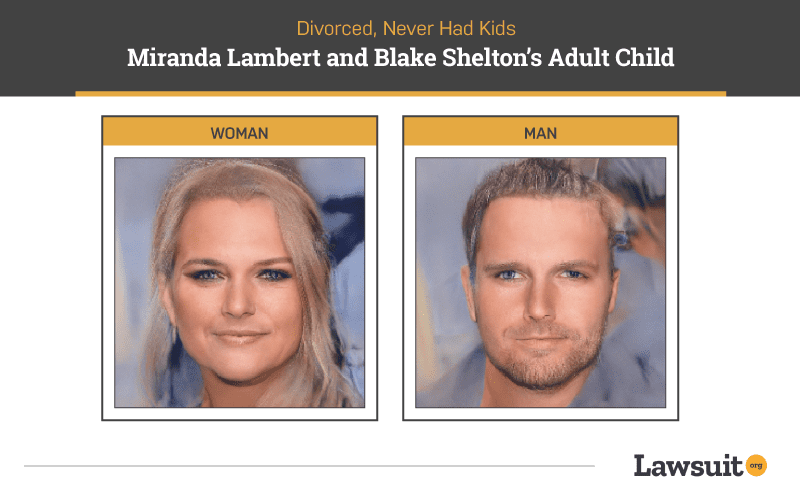 Miranda Lambert and Blake Shelton Child